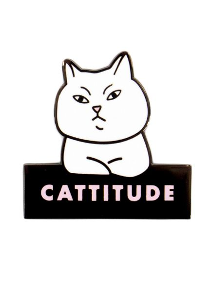 Seltzer Enamel Pin - Cattitude