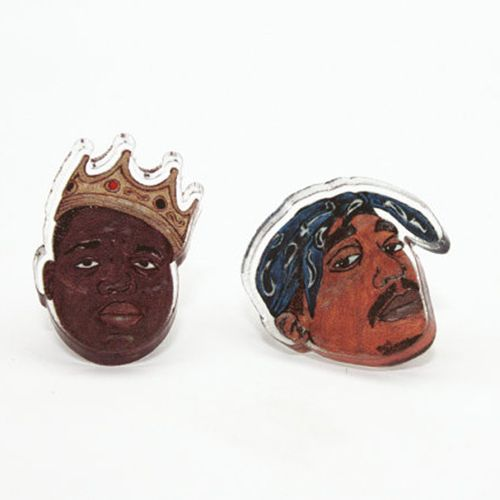 Leroy's Place Earrings - Biggie & Tupac