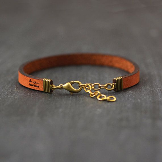 Laurel Denise Jewelry Metallic Gold Leather Bracelet  - Moon