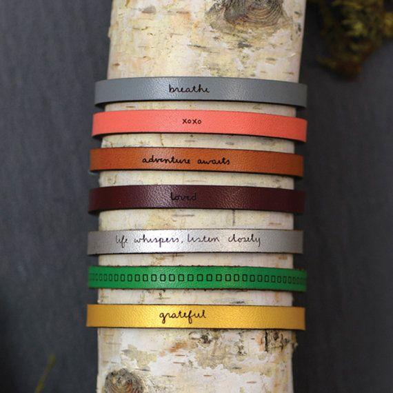 Laurel Denise Jewelry Coral Leather Bracelet - All You Need Is Love