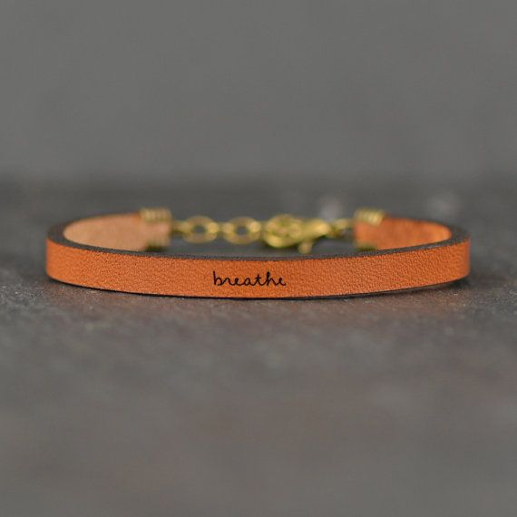 Laurel Denise Jewelry Coral Leather Bracelet - Breathe