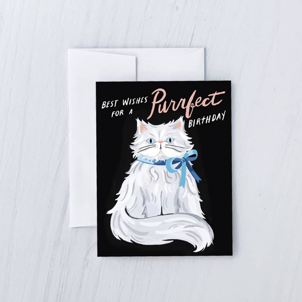 Idlewild Purrfect Persian Birthday Card