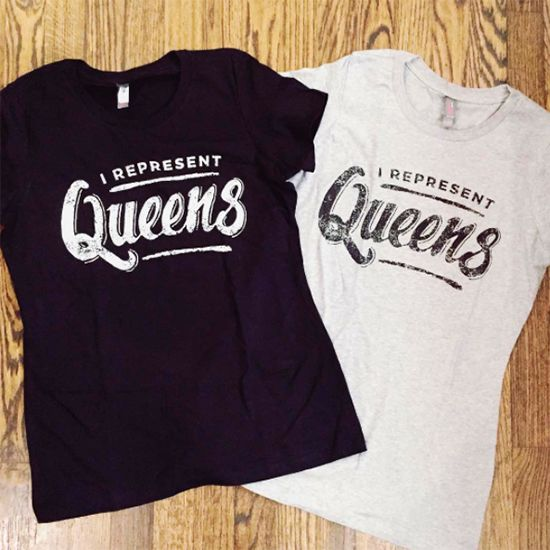 David Orellana Design Co. I Represent Queens Women's Tee - Grey
