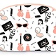Printed Village Rounded Cosmetic Bag - Pink Ladies - CLEARANCE