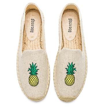 Soludos Soludos Smoking Slipper Embroidery - Sand Pineapple