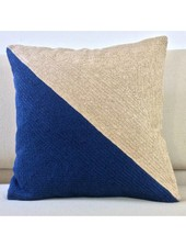 Megan Park Megan Park Geo Pillow Biscuit/Denim Large