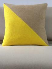 Megan Park Megan Park Geo Pillow Yellow/Biscuit Large