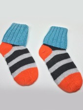 Baby Degen Baby Degen Black Grey Stripe Sock