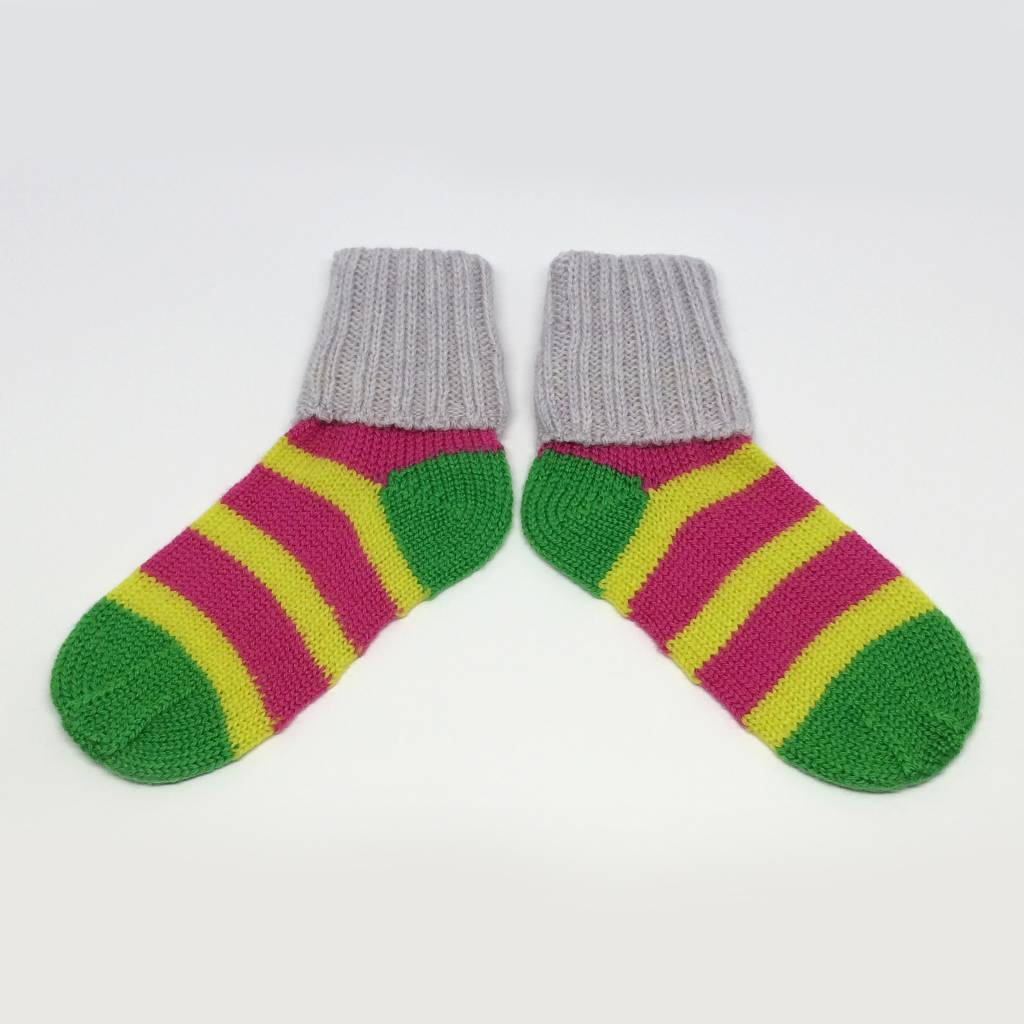 Baby Degen Baby Degen Yellow Pink Stripe Sock