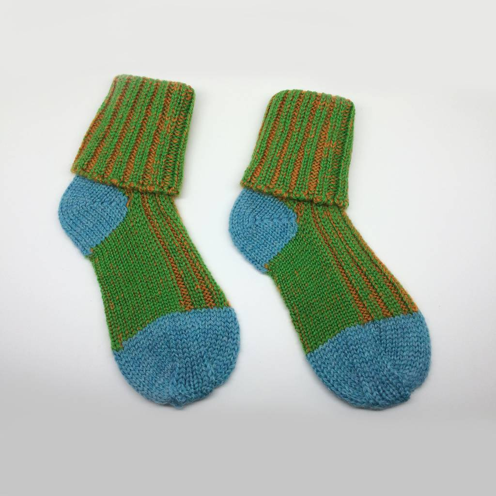 Baby Degen Baby Degen Green Plaited Sock