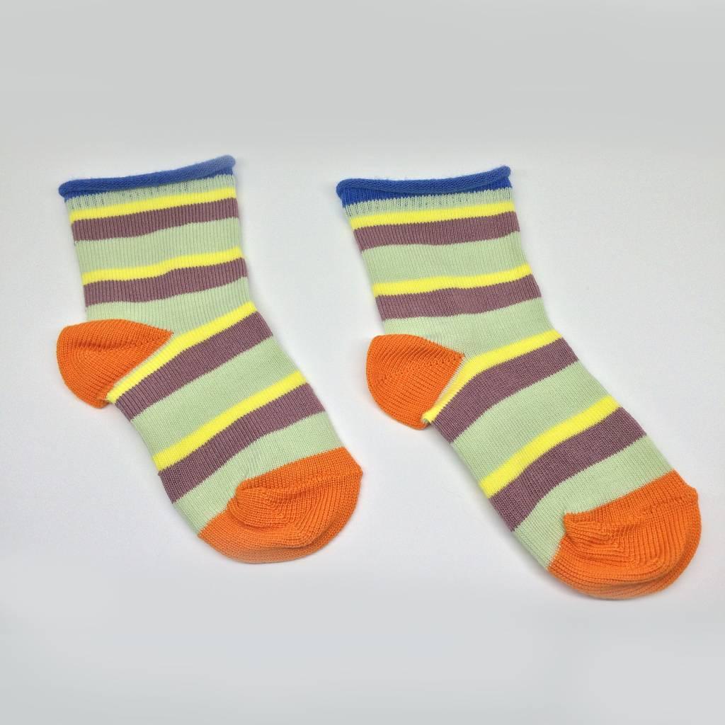 Baby Degen Baby Degen Mint Stripe Sock