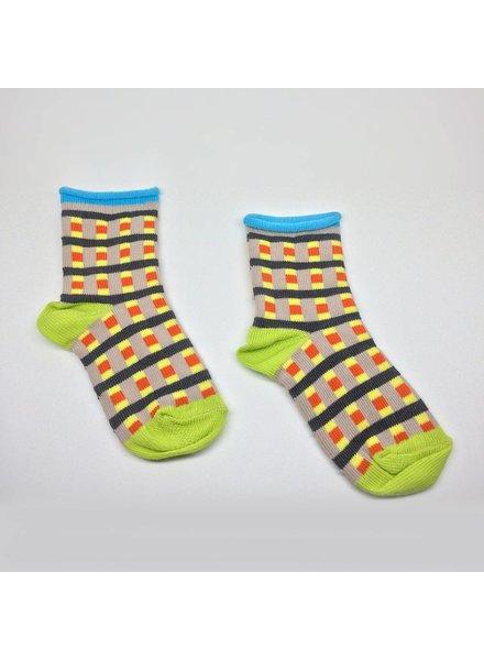 Baby Degen Baby Degen Grey Grid Sock