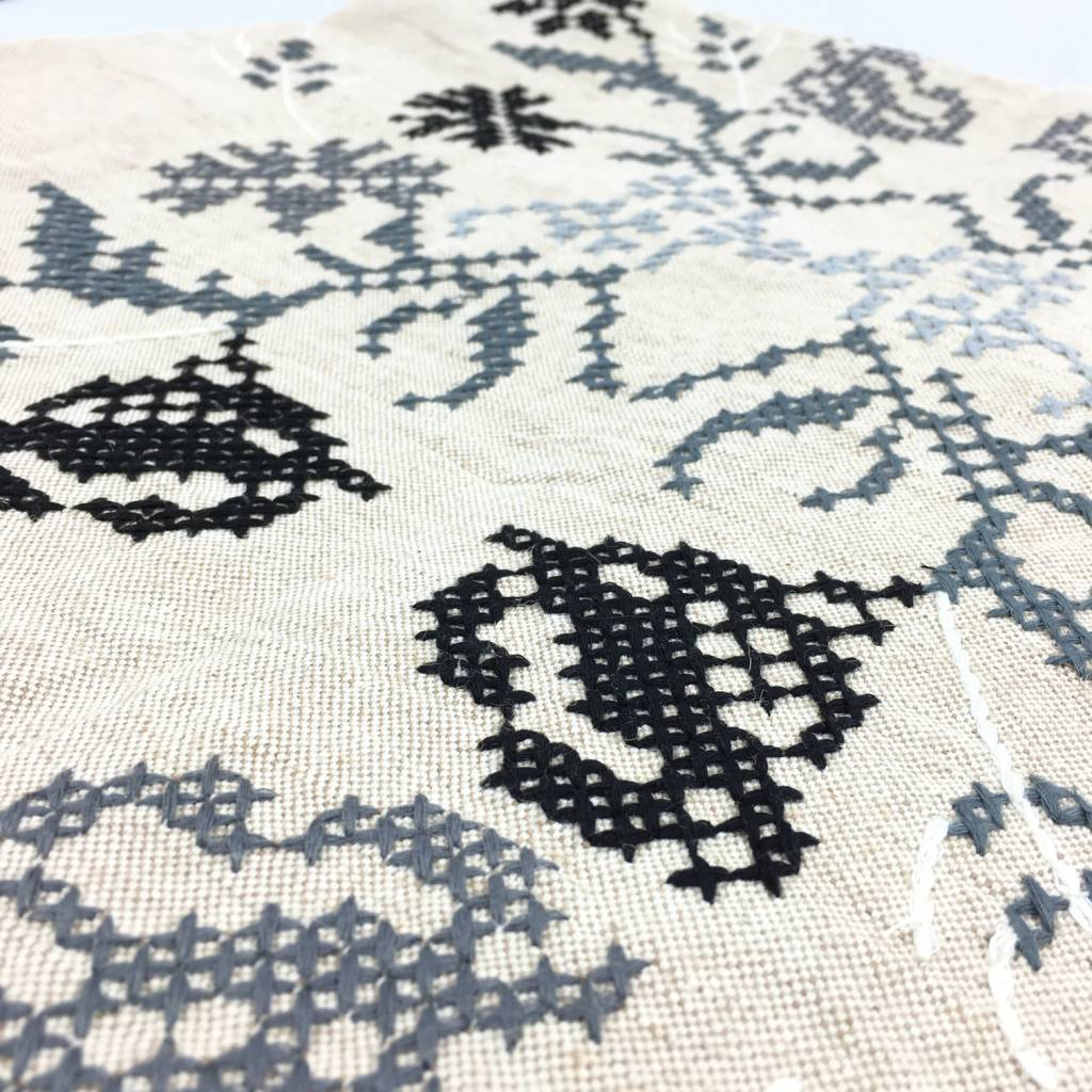 Khadi and Co Khadi and Co Embroidered Coverlet Vine