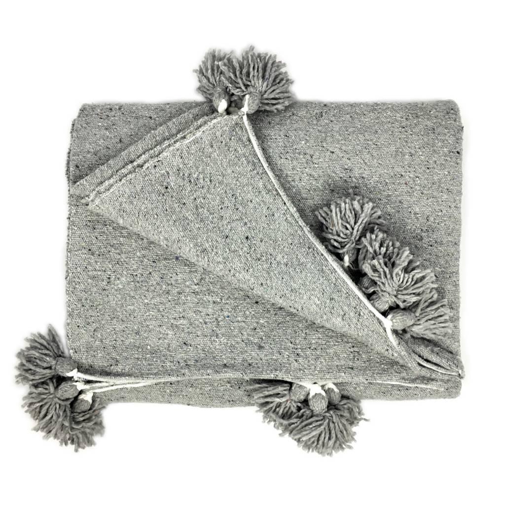 ABANJA Abanja Moroccan Pom Pom Blanket