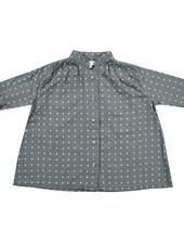 Rylee + Cru Rylee + Cru Cross Print Button Shirt Dress