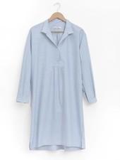Sleep Shirt Sleep Shirt Long Blue Oxford Stripe