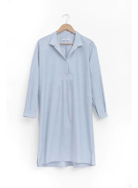Sleep Shirt Sleep Shirt Long Blue Oxford Stripe