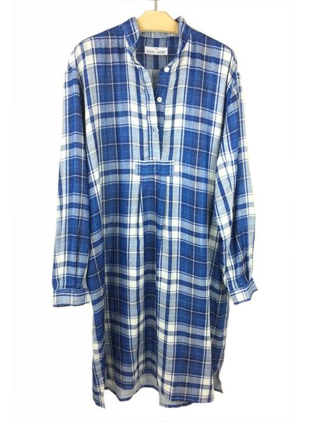 Sleep Shirt Sleep Shirt Long Double Faced Plaid
