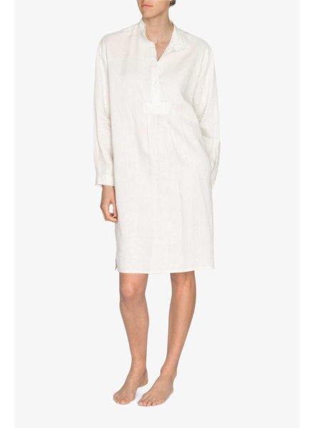Sleep Shirt Sleep Shirt Long Cream Linen