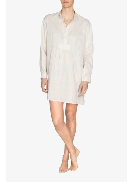 Sleep Shirt Sleep Shirt Short Cream Linen