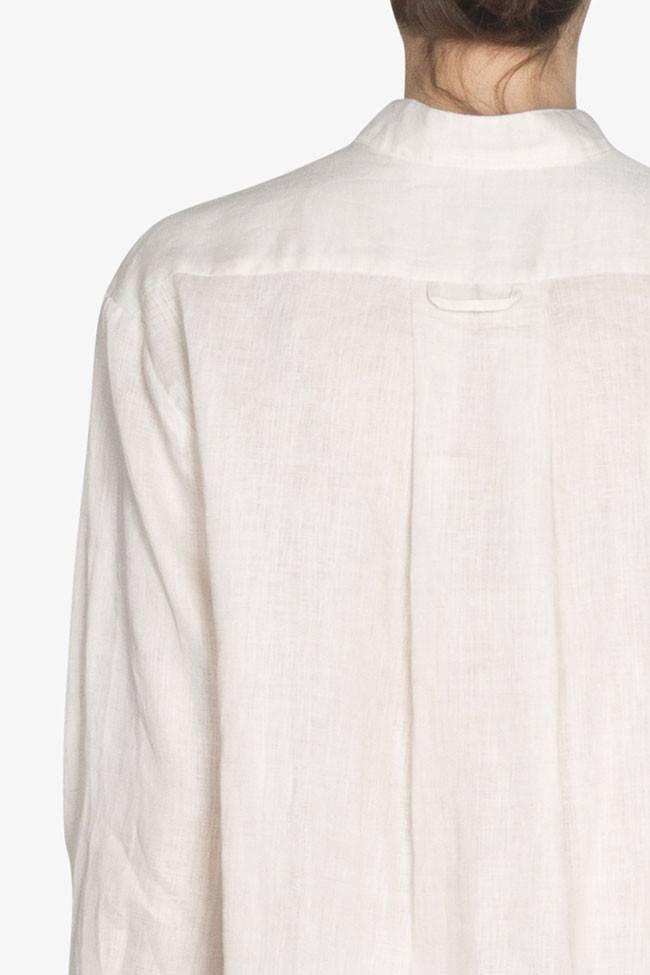 Sleep Shirt Sleep Shirt Short Cream Linen