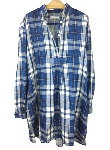 Sleep Shirt Sleep Shirt Short Double Faced Plaid