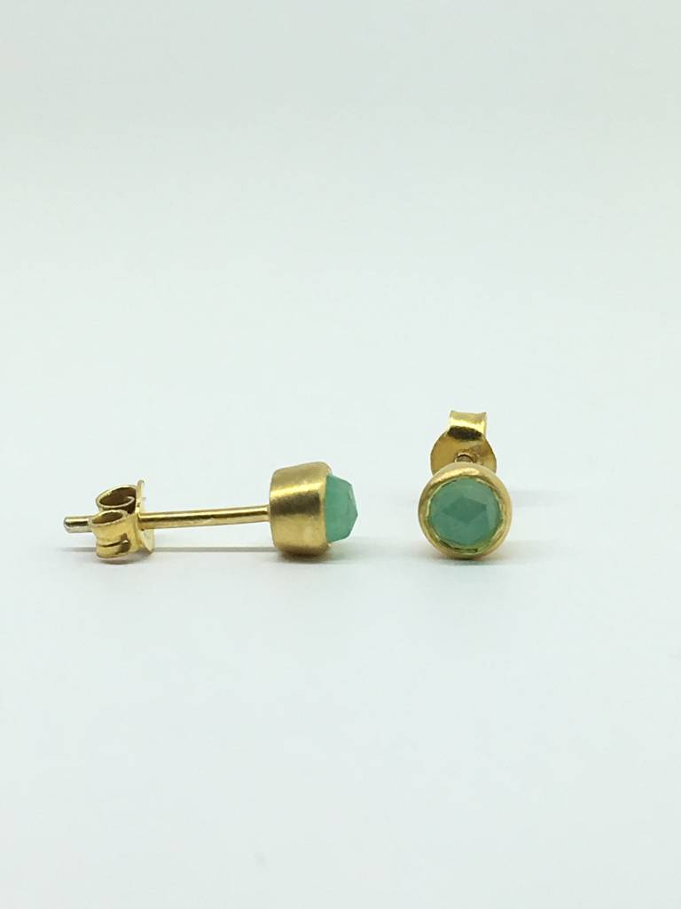 RiverSong Jewlery RiverSong Gem Dot Studs 24K/SS
