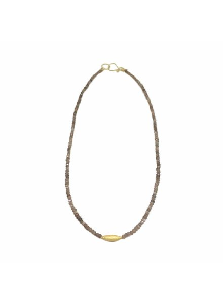 RiverSong Jewlery RiverSong Moonstone/Rice 24K Closure Necklace