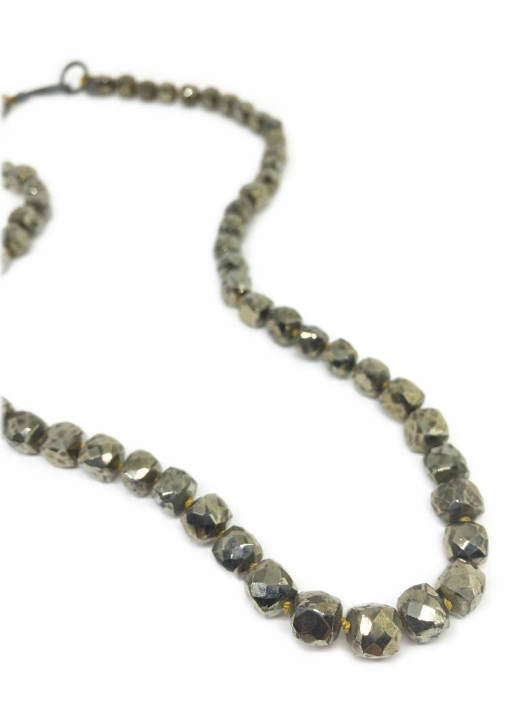 RiverSong Jewlery Riversong Knotted Pyrite Necklace