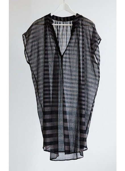 TWO TWO Pinstripe Black and Grey Tunic Khadi