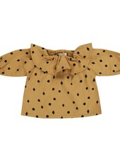Rylee + Cru Rylee + Cru Dots N' Diamonds Collar Blouse