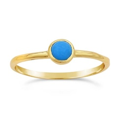 Ws House WS 14k Turquoise Ring 7