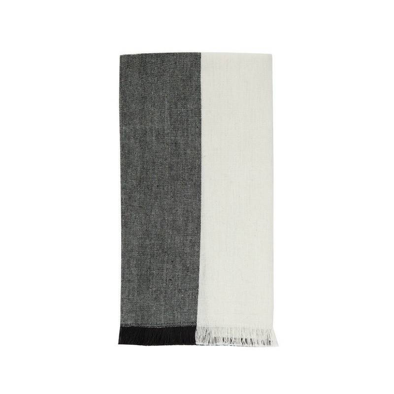 Napkin Color-block Fringe Black