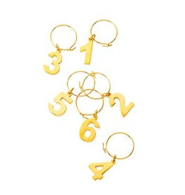 Gold Wine Charms