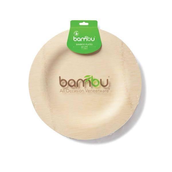 """Bambu Veneerware Plate Round 7"""""""
