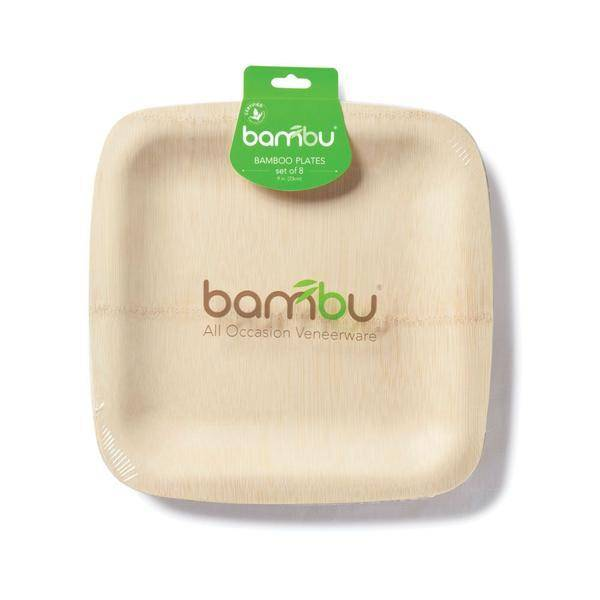 "Bambu Veneerware Plate Square 7"""