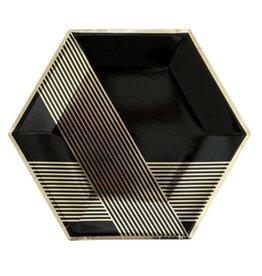 Harlow & Grey Noir Hexagon Large Paper Plate