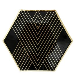 Harlow & Grey Noir Hexagon Small Paper Plates
