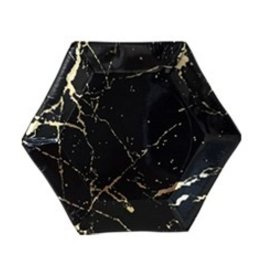 Harlow & Grey Noir Marble Hexagon Small Plates