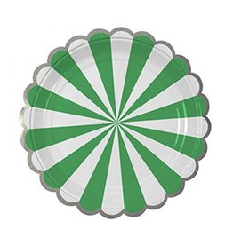Meri Meri Green Stripe Plate Large