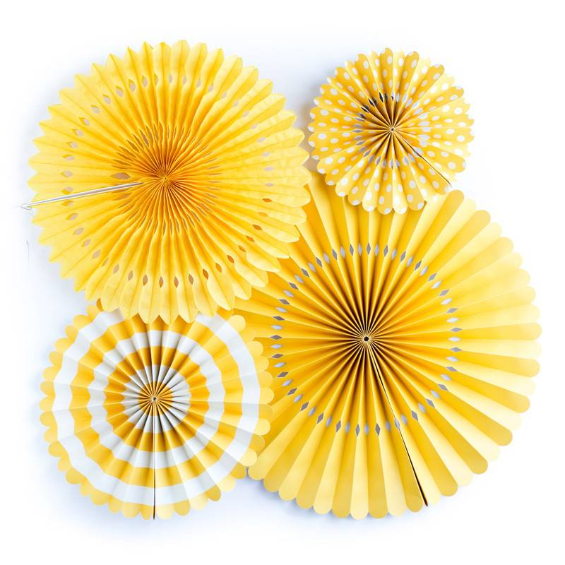 My Minds Eye Yellow Party Fans
