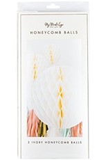 Fancy Ivory Honeycomb Decor