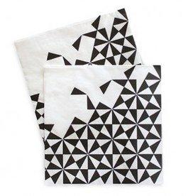 Black Geo Large Paper Napkins