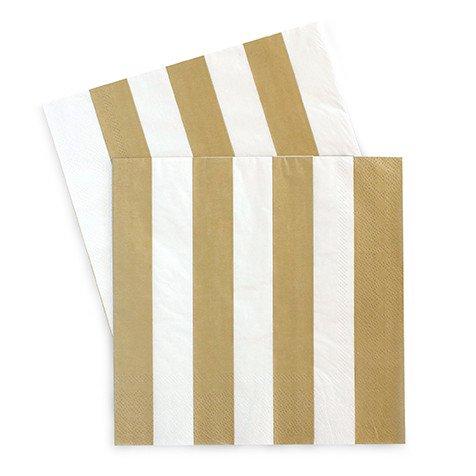 Large Paper Napkins Gold Crush