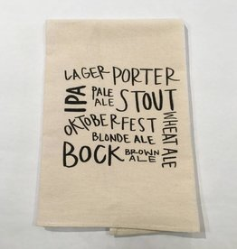 Tea Towel Beer Types