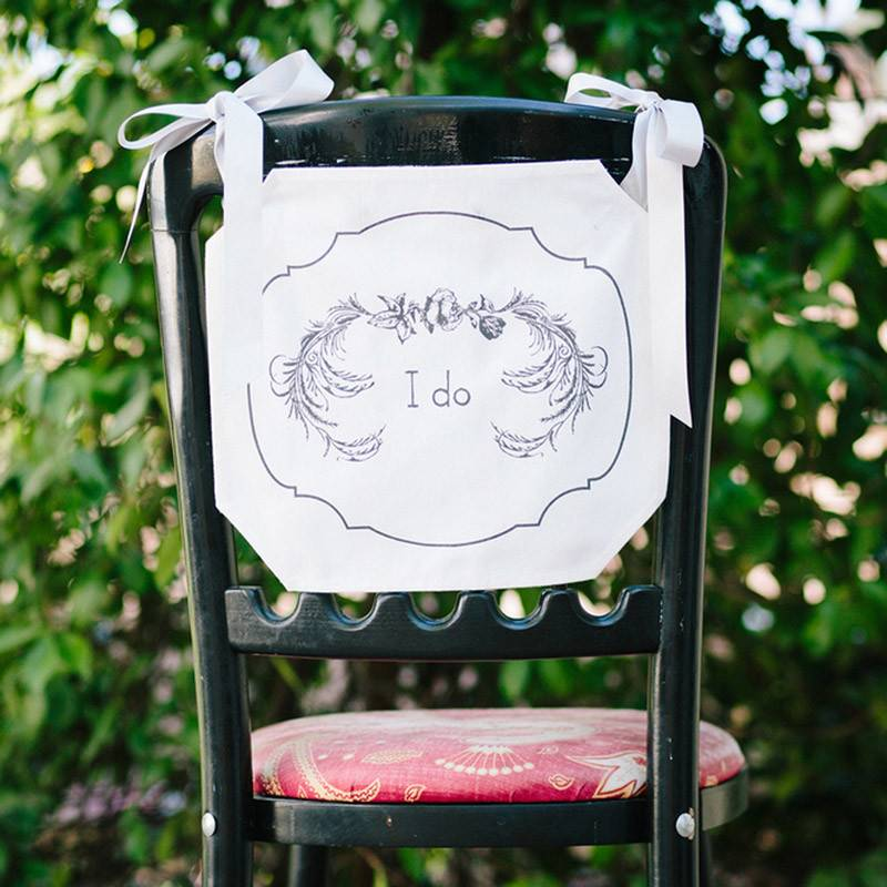 I Do Chair Banner