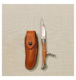 Laguiole Pocket Knife with Corkscrew Olivewood