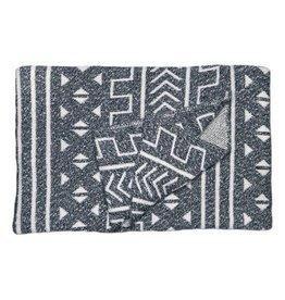 Savannah Hayes Mali Throw Blanket Onyx