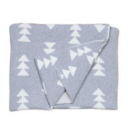 Savannah Hayes Rivington Baby Blanket Smoke