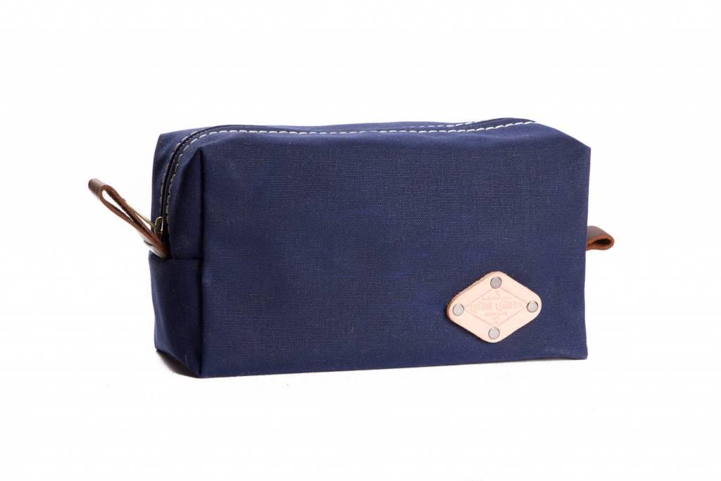 Wax Canvas Dopp Kit Blue